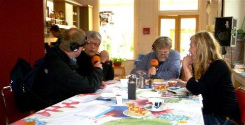 Greet Dijkstra bij Radio Noord