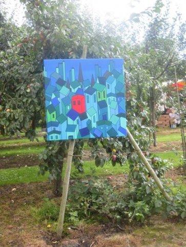 Schilderijen in de Luingahof te Bierum (Gn)