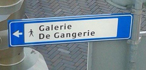 """Galerie """"De Gangerie"""" officieel bewegwijzerd"""